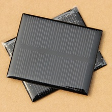 BUHESHUI Solar Panel 5.5V 0.5W  Mini Solar Cell For Small Power Appliances Solar Toy Panel Education Kits 68×55.6x3mm 500pcs/lot