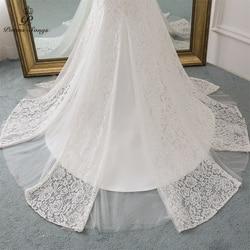 PoemsSongs 2019 new cap sleeve style lace wedding dress for wedding Vestido de noiva Mermaid wedding dresses ivory / white color 6