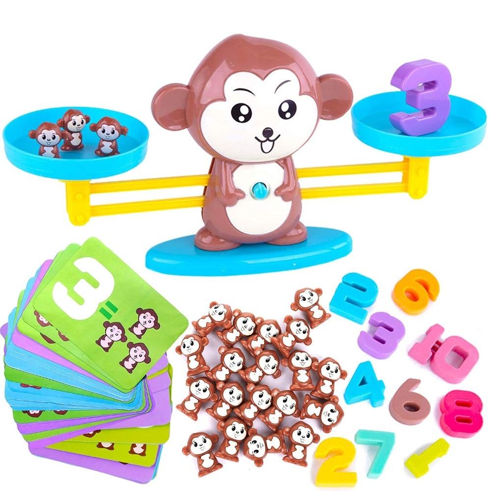macaco equilibrio legal jogo de matematica pesando escala montessori matematica contagem equilibrio medicao brinquedo divertido
