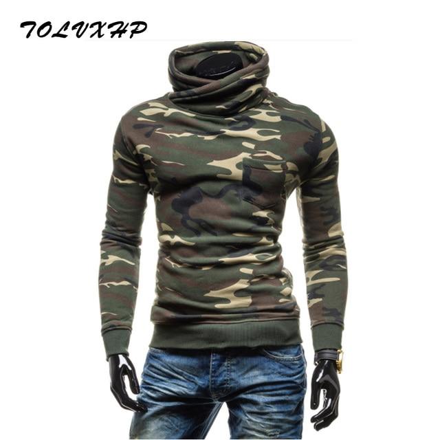 Tolvxhp 2018 nueva moda Sudaderas marca hombres camuflaje Sudadera con  capucha hombres hip hop Otoño Invierno ea6ddf0a828