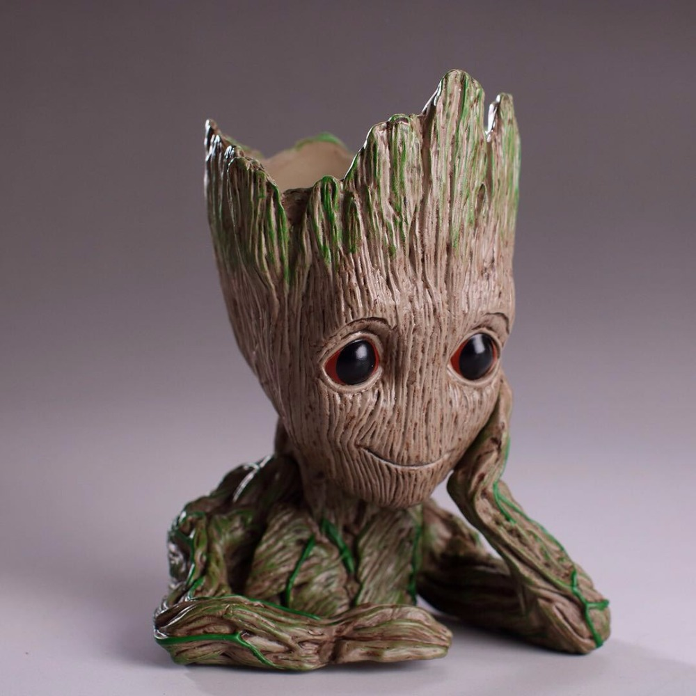 Marvel Guardians of The Galaxy Flowerpot Baby Tree Man Action Figures Cute Model Toy Pen Pot Christmas Gifts For Kids Home Decor