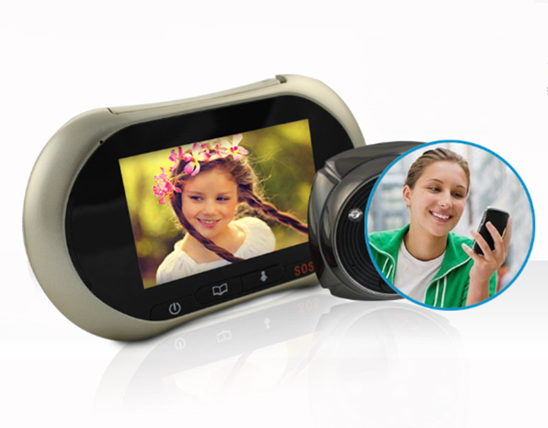GSM Alarm Video Doorbell Motion Detection Peephole Viewer