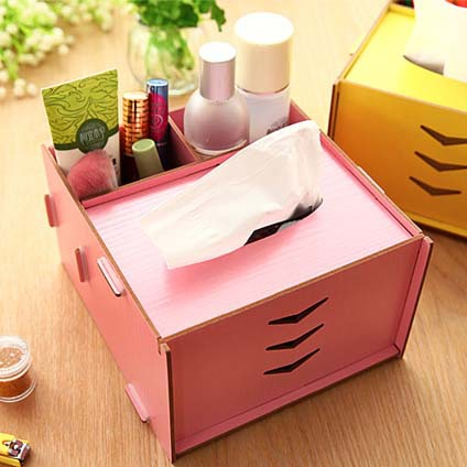 Fashion Creative Mdf Wood Diy Tissue Box Holder For House Car Bedding Set Multi Function Napkin Storage A133 In Bo From Home Garden On