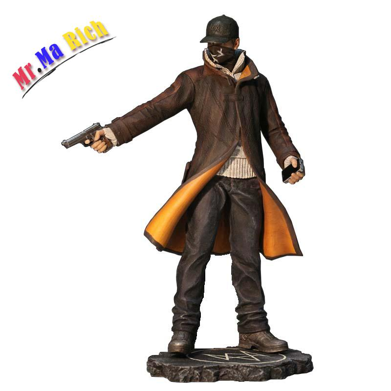 24 Cm Gioco Watch Dogs Aiden Pearce Action Pvc Figure Model Toy Regalo watch dogs aiden pearce cap costume cosplay watch dogs hat high quality baseball cap