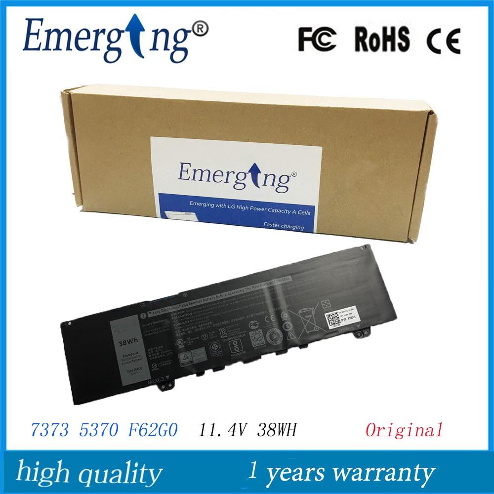 11.4V 38WH New Original Laptop Battery F62G0  For Dell Inspiron 13 5370 7370 7373 Vostro 5370 RPJC3