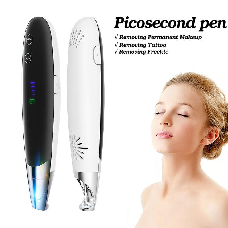 Lumière bleue picoseconde Laser stylo tache de rousseur tatouage taupe enlèvement Laser stylo soin de la peau tache foncée Pigment traitement de l'acné Machine nouveau
