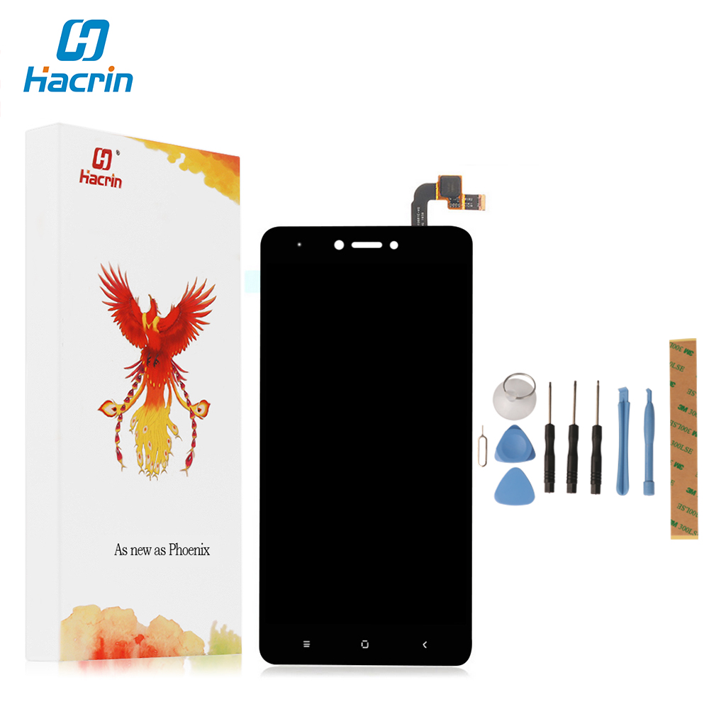hacrin For Xiaomi Redmi Note 4X LCD Display Touch Screen 100 New Digitizer Glass Panel For