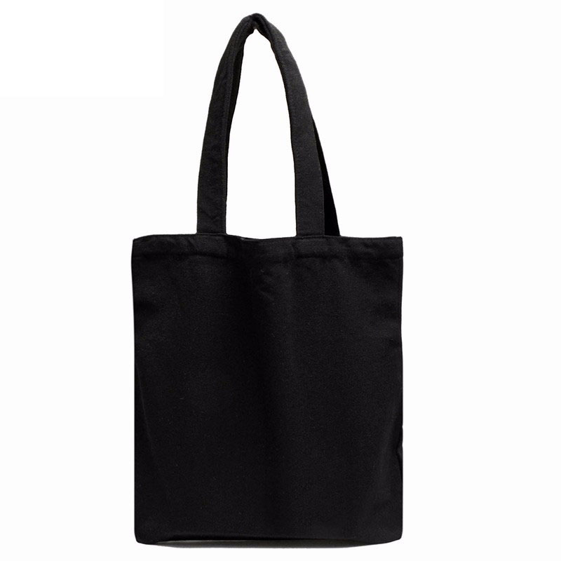 Large Black Canvas Tote Bag Reusable Shopping Bag Foldable Folding Fabric Cloth Cotton Eco Grocery Bags Durable Handbag new arrival and hot sale tactical vt 2 4 16x50mm ir side focus rifle scope for hunting bwr 140