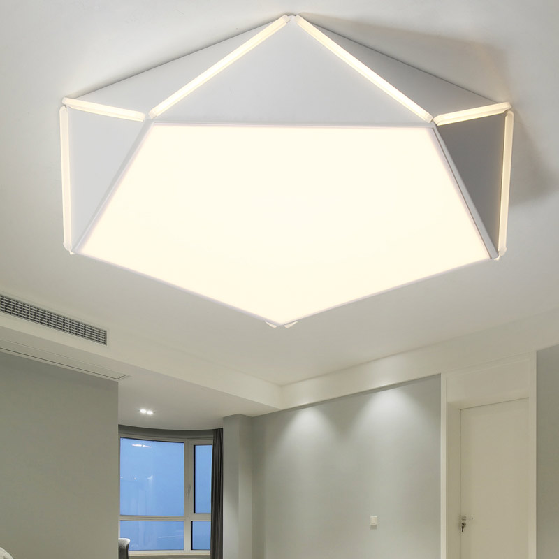 цена Modern Acrylic Led Ceiling Light Fixtures With Remote Control Lustre Living Room Bedroom Kitchen White Lamp Decor Home Lighting