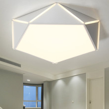 Modern Led Ceiling Light Fixtures With Remote Control Lamp Living Room Bedroom Kitchen White LustreDecor Home Lighting Acrylic white black led ceiling lamp modern with remote control ceiling light living room kitchen light fixtures indoor lighting ceiling
