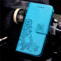 for Huawei Honor 4A Luxury Embossed Flower Pattern PU Leather Case for Huawei Y6 honor 4A Flip Cover Wallet With Card Slots