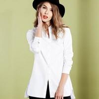 2017 г. летние женские блузки с длинными рукавами в полоску для девочек рубашки высокое качество хлопчатобумажные Топы Большие размеры модна...
