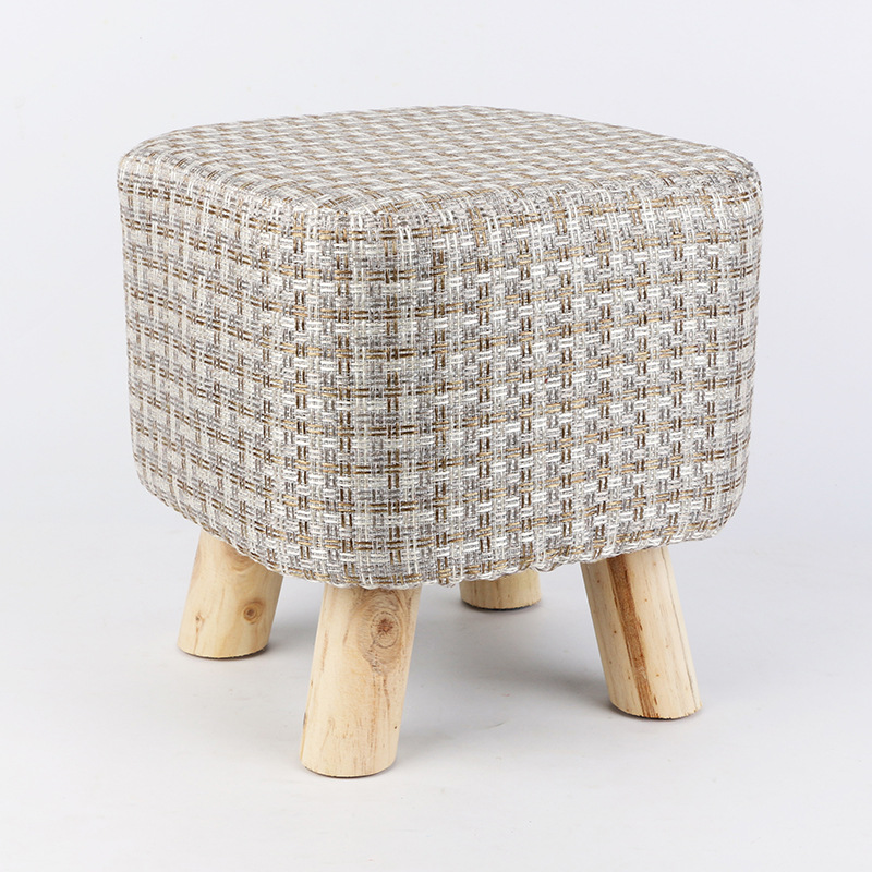 Washable Household Sofa Stool Wooden Change Shoe Bench Stable Non-slip Solid Wood Kids Stool Multi-purpose Cloth Art Sponge Seat gear brushless dc motor nema 23 120w 24v bldc motor planetary reduction gearbox ratio 5 1