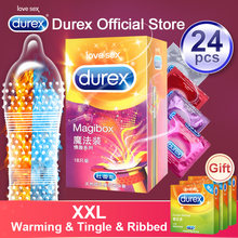 Durex Magic Condom XXL Large Size Spike Ultra Thin Sex Products Natural Rubber Cock Sleeve Intimate Goods Sex For Men Adult(China)