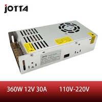 Freies verschiffen 360W 12V 30A LED Streifen CNC 3D Drucken Kleine Volumen Einzigen Ausgang Schalt netzteil