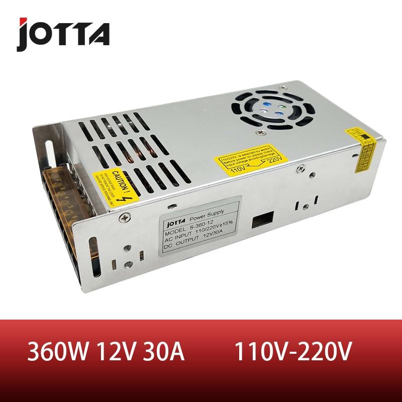 O envio gratuito de 360 w 12 v 30a led strip cnc 3d impressão pequeno volume única saída comutação fonte alimentação