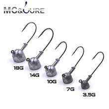 fishing hook 5pcs/lot 3.5g//7g/10g/18g Jig Head Hooks Lead crank hook Artificial Bait Soft lure hooks Fishing Tackle