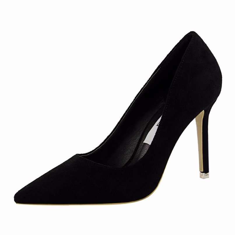 02a946865fb2de  D Henlu Women Shoe Purple Shoes Heel Woman Flock High Heels Women Pumps  Ladies Office