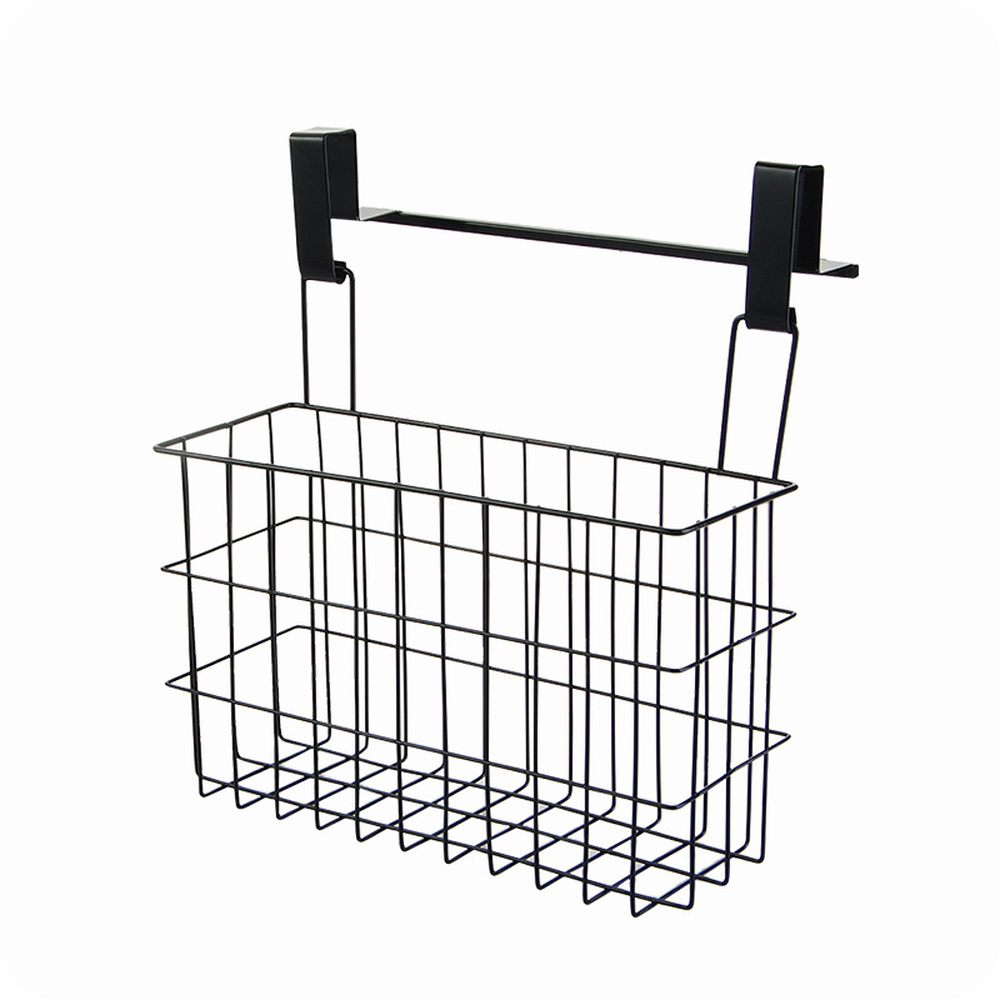 Iron double sided storage rack  kitchen hanging drain basket cabinet spice bottle holder door back hanging basket wx7201112