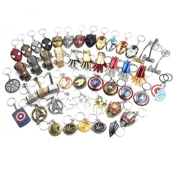 Classics Avengers 4 Iron Man Mask Thor's Hammer Mjolnir Keychain