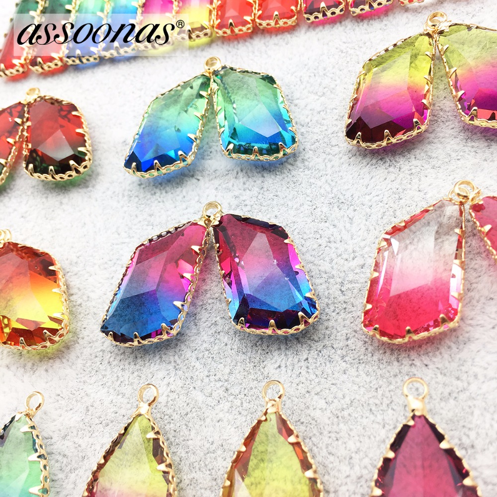 Assoonas M183,jewelry Accessories,jewelry Findings,accessories Parts,diy Necklace Pendant,geometry Glass Pendant,hand Made