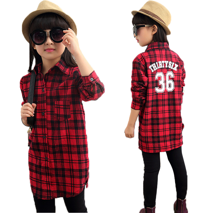 Online buy wholesale girls plaid shirts from china girls for Buy plaid shirts online
