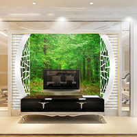Modern 3D Murals Wallpaper Stickers Living Room TV Background Home Decora Family New DIY Art Room Forest Path Wall Papers 271