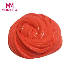 10 colors plasticine magnet slime for kids Fluffy Floam Slime Scented Stress Relief No Borax Kids Toy Sludge Toy Hot selling(China)
