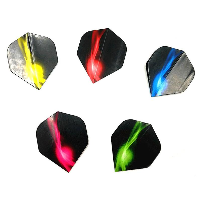 10PCS Extra Thick Translucent Dart Flights Tails Wings Feather Leaves For Dartboard Games Accessories