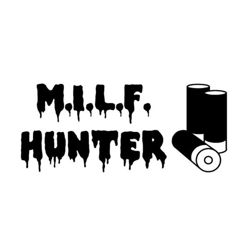 15cm*6.5cm Creative Personality Hunter MILF Funny Fashion Vinyl Car Window Stickers C5-0299