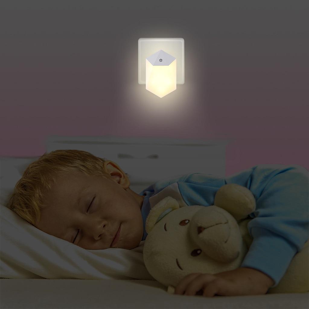 2019 Led Motion Sensor Night Light Bathroom Hallway Lamp Lighting Bulb Plug In Night Lamp Lamps Lampen Room Decor Светильник