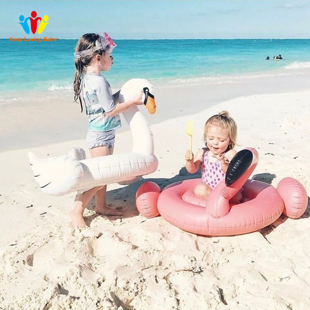 Inflatable Flamingo Swimming accessori Baby Summer Water Fun Pool Toy Kids Swimming in the pool Toys Kids Swimming Accessories