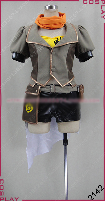 RWBY Yellow Trailer Yang Xiao Long Cosplay Costume Halloween Uniform Outfit Top+Coat+Pants+Scarf+Gloves+Socks Custom-made