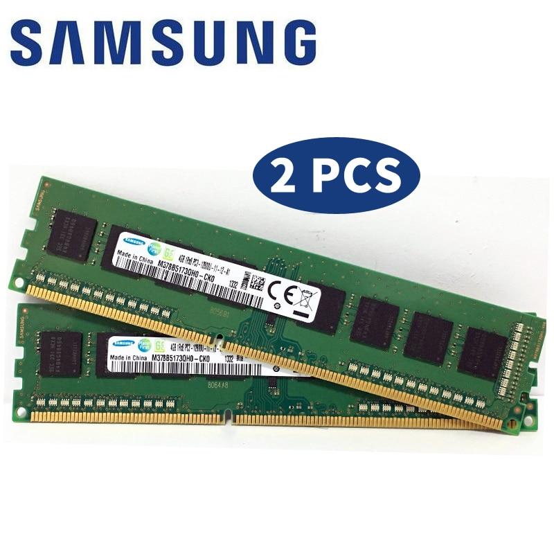 Samsung 2x Dual-channel 4GB (2GBX2) 8GB (4GBX2) PC3 DDR3 ECC Desktop Memory 1333 1600 MHZ Module 10600 12800 2GB 4GB 8GB RAM