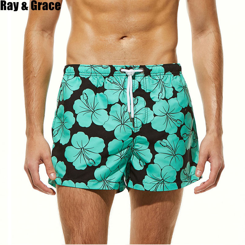 RAY GRACE Men   Board     Shorts   Quick Dry Bermudas Beach   Shorts   Breathable Surf Swimsuit Men   Shorts   Beach Boardshorts Men Swimwear