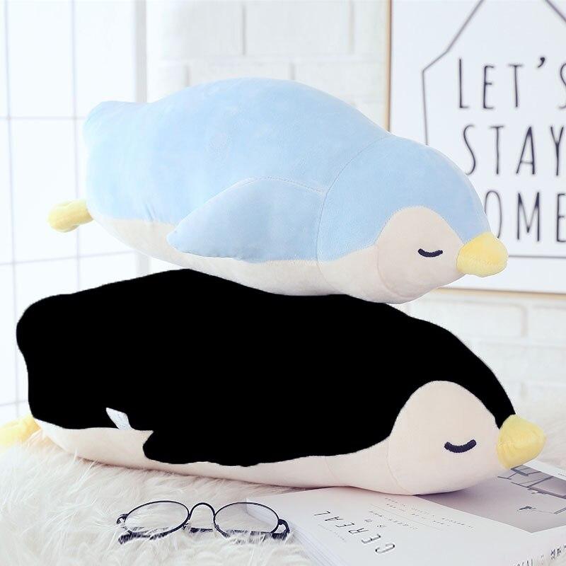 Brinquedo de Pelúcia para crianças 35 cm Travesseiro Macio Recheado Bonito Barriga Boneca Pinguim Menino/Almofada Natal Presente de Aniversário das meninas presente de casamento