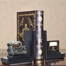Ein Paar Kreative Synthetische Harz Buchstütze Regal Retro Telegraphen Buchstütze Halter Büro Liefert Hause Dekoration Buch Stehen