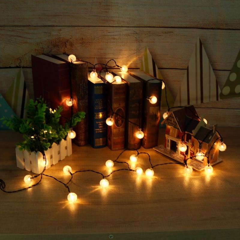 30/50 LED Bubble Shaped Butterfly Solar String Lights Wedding Party Decorative Lamps Outdoor Christmas Lighting