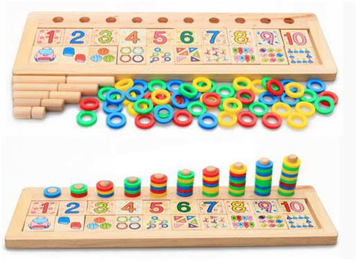 Toddler Learning Toys For 6 : っkids wooden math ③ toy montessori educational