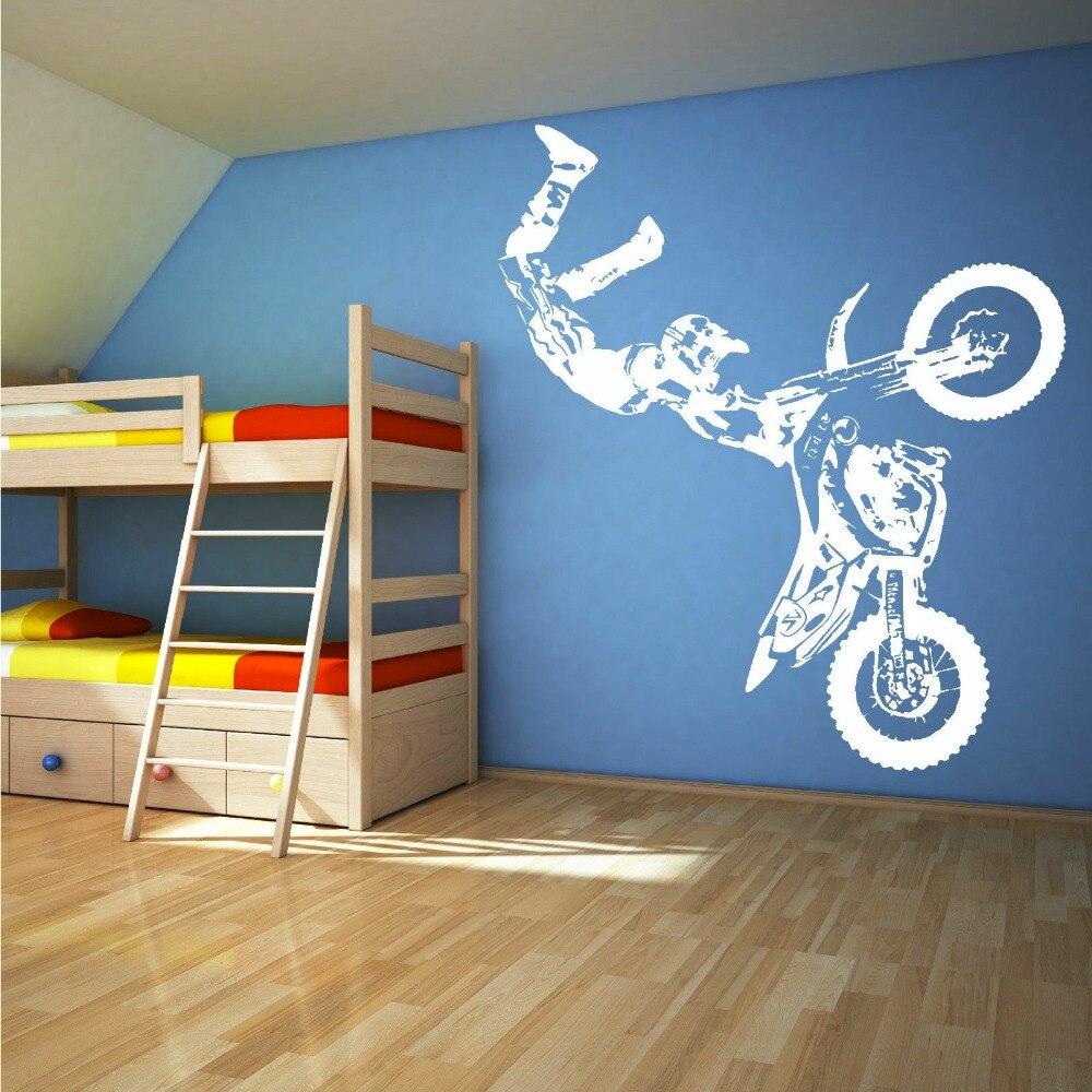 ... STUNT BIKE MOTORBIKE X GAMES MX MOTORCROSS DIRT BIKE Wall Art Room  Sticker Decal Mural Decor ... Part 58
