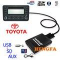 Yatour Автомобиль Цифровой Музыки Чейнджер USB AUX MP3 адаптер Игрока для 2005-2012 Toyota/Lexus/Scion малого 6 + 6 pin Аудио Автомобиля радио