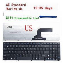 Clavier américain pour ASUS, clavier pour ordinateur portable ASUS K53, K53E, X52, X52F, X52J, X52JR, X55, X55C, X55U, K73, K73B, K73E, K73S, X61, NJ2