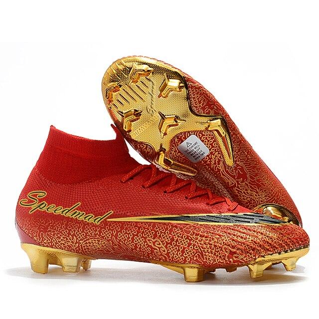 4450d27cbd481 Alto Tornozelo Sapatos De Futebol Dos Homens Chuteiras CR7 VI 360 Elite  Superfly FG Botas De