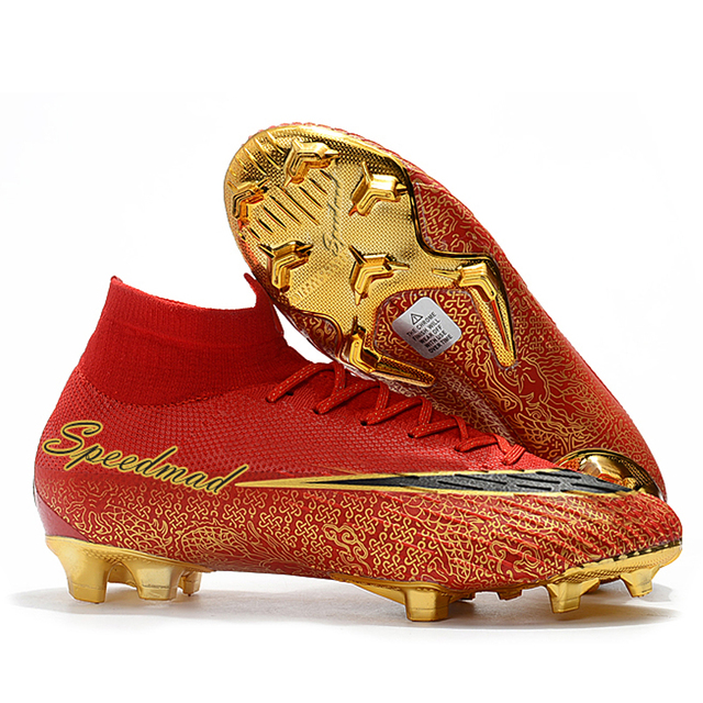 f433f4ec54ad High Ankle Football Shoes Mens CR7 Cleats FG Superfly VI 360 Elite Soccer  Boots Zapatos De Futbol Hombre Chuteira Futebol 2018