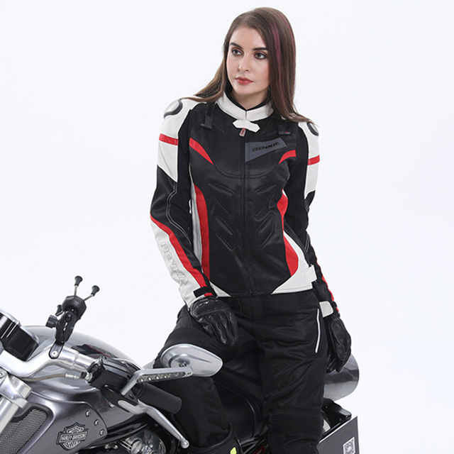 BENKIA Motorcycle Jackets Women Motocross Jacket Protective Gear Racing Breathable Windproof Moto Jacket For Spring Summer 4