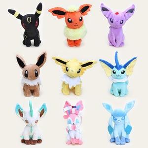 anime eevee plush toys Espeon Mew Plush Umbreon Jolteon Flareon Glaceon Vaporeon Leafeon Umbreon Sylveon stuffed plush Doll toys