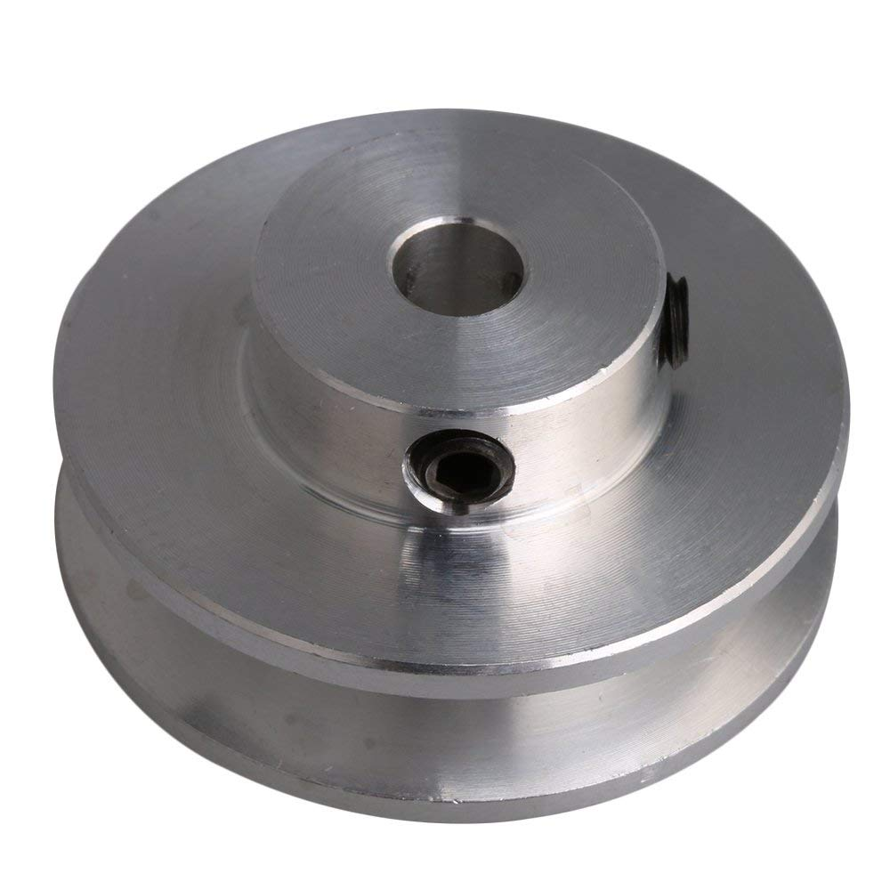 31x15x5mm Silver Aluminum Alloy V-shape Groove Pulley for Motor Shaft 3-5mm PU Round Type Belt aluminum collet prop shaft adapter for 3 17mm motor shaft silver 5 piece pack