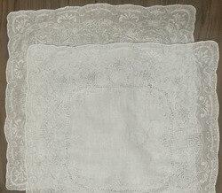 2 Teile/los Neuheit frauen Taschentücher 11,5x11,5 Weiß Leinen Taschentuch Gestickten Vintage Floral Taschentücher Einstecktuch Für Braut