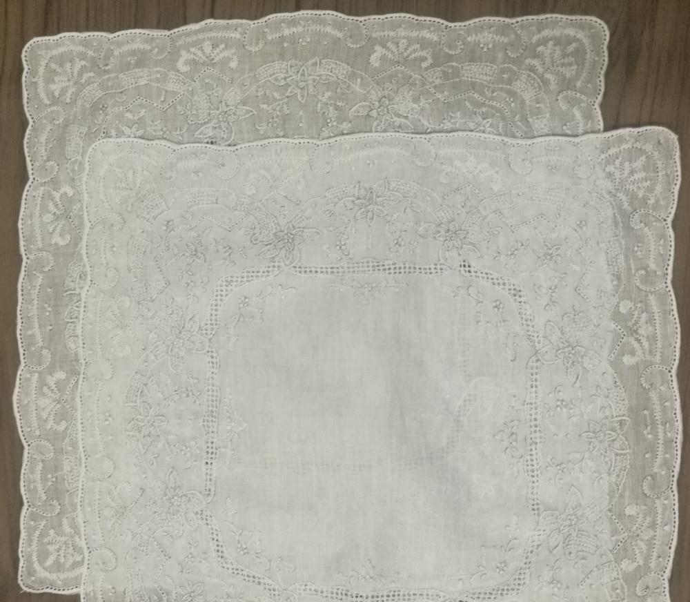 2PCS/Lot Novelty Women's Handkerchiefs 11.5x11.5