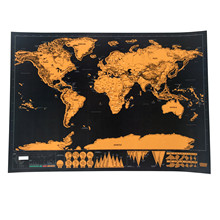 High quality 1 pcs  Deluxe Scratch Map Personalized World Scratch Map Mini Scratch Off Foil Layer Coating Poster for travel